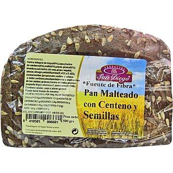 San diego Pan malteado con centeno y semillas de girasol Envase 500 g