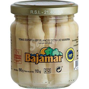 Bajamar Yemas de espárragos blancos extra de Navarra gruesos Frasco 110 g neto escurrido