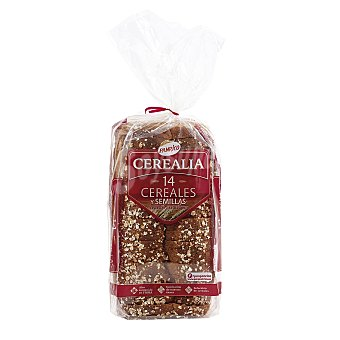 Panrico Pan Cerealia con 14 cereales y semillas Bolsa de 560 g