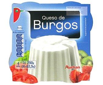 Auchan Queso fresco de Burgos 4 Unidades de 62,5 Gramos