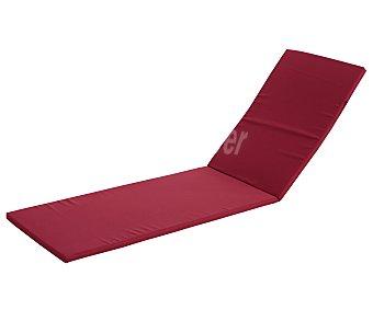 COMATEX Cojín para tumbona modelo Grey Line de color rojo burdeos, de 192x58x3 centímetros, lavable y de gran resistencia al exterior 1 unidad