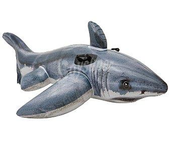 BESTWAY Colchoneta hinchable con agarradores de seguridad y forma de tiburón 1 unidad