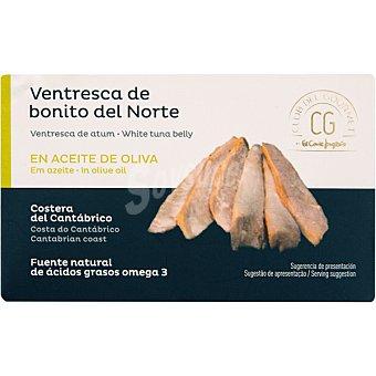 Club del gourmet Ventresca de bonito del norte en aceite de oliva Lata 80 g neto escurrido