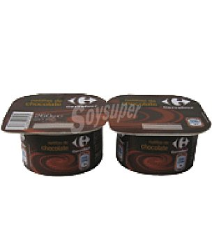 Carrefour Natillas de chocolate Pack de 2x130 g
