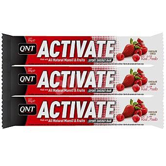 QNT ACTIVATE Barrita energética sabor frutos rojos pack 3x35 g estuche 105 g Pack 3x35 g