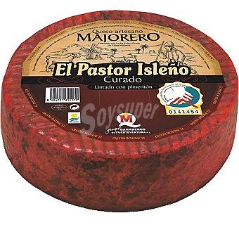 EL PASTOR ISLEÑO Queso artesano curado con pimentón majorero peso aproximado pieza 3,5 kg