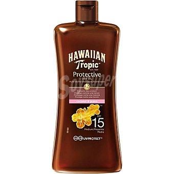 Hawaiian Tropic Aceite protector solar FP-15 tamaño viaje y resistente al agua Frasco de 100 ml
