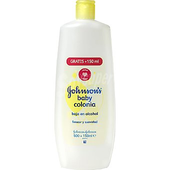 Johnson's Baby Colonia baja en alcohol Frasco 600 ml + 150 ml gratis