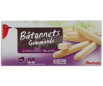 Auchan Palitos de galleta recubiertos de chocolate blanco 150 gramos