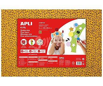 APLI Plancha de foam, goma eva con diseño de piel de leopardo y dimensiones 400x600x2 milímetros 1 unidad