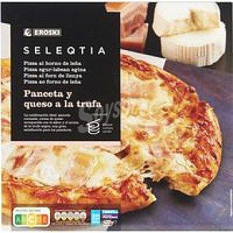 Eroski Seleqtia Pizza de panceta-queso a la trufa Eroski Caja 420 g