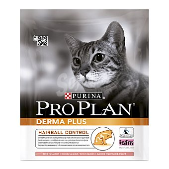 PRO PLAN DERMA Pienso para gatos adultos Pro Plan Derma Plus Hairtball Control 400 gr