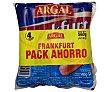 Salchichas cocidas y ahumadas tipo Frankfurt 4 x 140 g Argal