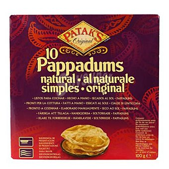 Patak's Pan Pappadum natural 100 g