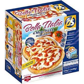 SCHAR DS Bella Italia mini pizza margarita envase 320 g 4 unidades