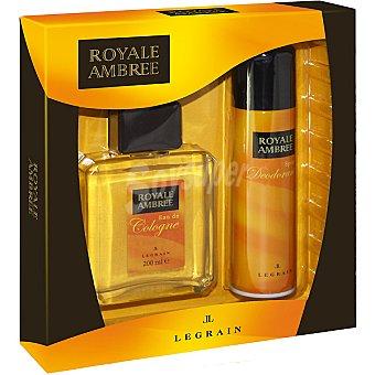 Royale Ambree Eau de cologne + desodorante spray 150 ml Frasco 200 ml