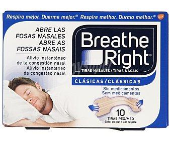 Breathe Right Tiras que abren las fosas nasales de tamaño pequeño 10 uds