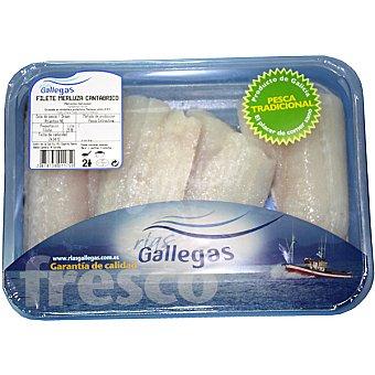 Rías Gallegas Merluza de pincho en filetes Bandeja 500 g peso aprox. (2-3 unidades)