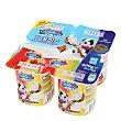 Yogur sabor fresa / plátano Pack de 4x125 g Carrefour Kids