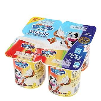 Carrefour Kids Yogur sabor fresa / plátano Pack de 4x125 g
