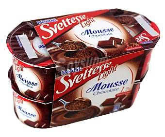 Sveltesse Nestlé Mousse de chocolate Pack 4x64 g