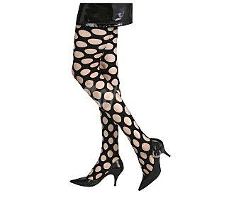 MY OTHER ME Complemento para disfraz Halloween, Medias de rejilla grande color negro Medias de rejilla grande