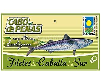 Cabo de Peñas Filetes de caballa del sur en aceite de oliva virgen extra ecológicos 53 gramos