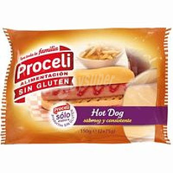 PROCEL Hot Dog sin gluten Pack 2x75 g