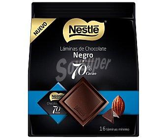 Nestlé Láminas de chocolate negro 70% cacao, 125 gramos, 16 láminas mínimo 125g