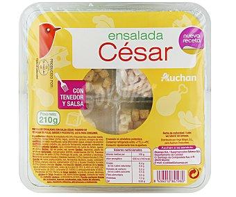 Auchan Ensalada César (salsa César, pechuga de pollo, picatostes y queso) 210 gramos