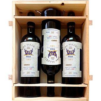 VIÑA VALORIA vino tinto crianza D.O. Rioja Estuche 3 botellas 75 cl