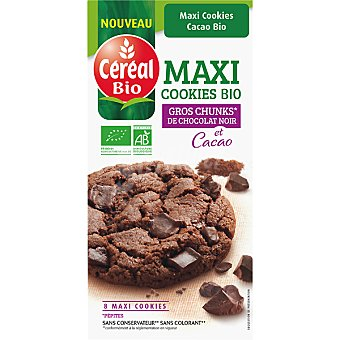CEREAL BIO maxi cookies de chocolate ecológicas envase 185 g
