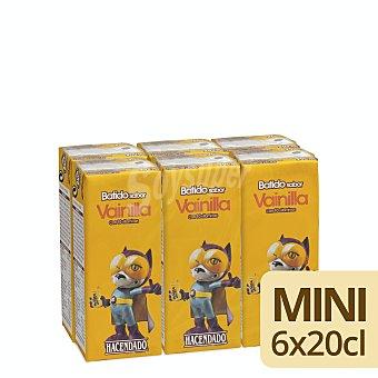 Hacendado Batido vainilla Pack 6 x 200 ml - 1200 ml