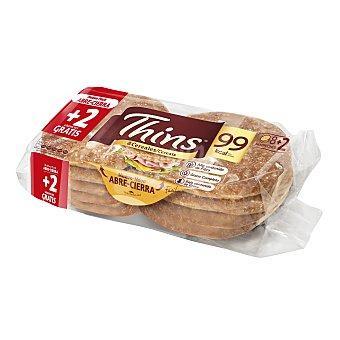 Silueta Bimbo Thins pan para sandwich 8 cereales Bolsa 310 g