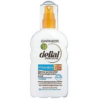 Delial Garnier Loción solar FS50+ piel sensible Spray 200 ml