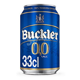 Buckler Cerveza sin alcohol (0,0% Vol.) Lata de 33 cl