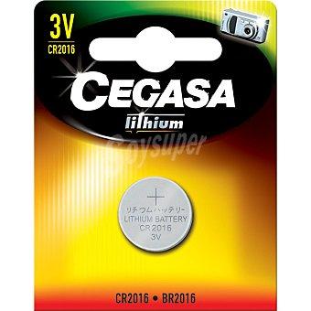 Cegasa CR2016 3V pila especial de litio blister 1 unidad