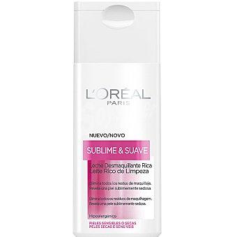 Dermo Expertise L'Oréal Paris Leche limpiadora desmaquillante Sublime & Fresca piel sensible o seca frasco 200 ml