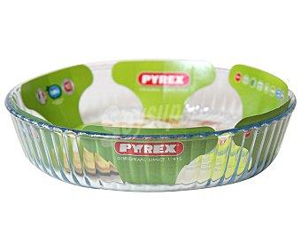 Pyrex Molde redondo ondulado de vidrio borosilicato, 26 centímetros de diámetro pyrex