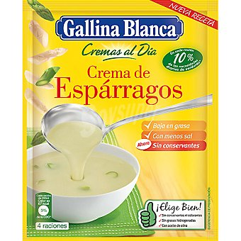 GALLINA BLANCA CREMAS AL DIA Crema de espárragos sobre 61 g g