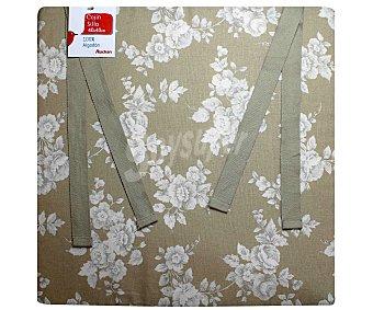 AUCHAN Cojín estampado para silla, modelo Panama, color beige 40x40 centímetros 1 Unidad