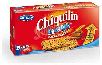 CHIQUILÍN Galletas Energy Pack de 5x250g
