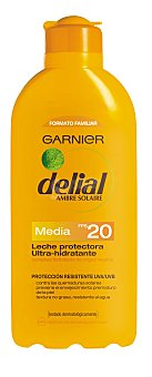 Delial Garnier Leche solar con factor protección 20  Bote 400 ml