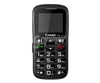 """FUNKER C50 Teléfono móvil Senior, Pantalla: 1.8"""" color, Bluetooth, teclado y dígitos de gran tamaño, altavoz con súper volumen, botón SOS para emergencias, base cargadora de sobremesa,"""