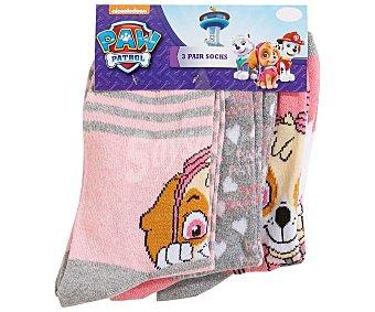 Patrulla Canina Lote de 3 pares de calcetines de niña talla 31/34 talla 31/34.