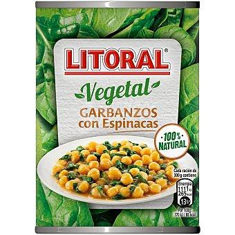 Litoral Garbanzos con espinacas 425 gr