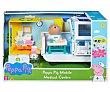Conjunto de juego Ambulancia y centro médico con accesorios y figuras PIG  Peppa Pig