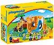Conjunto de juego Zoo con 4 figuras, animales y accesorios, 123 playmobil 9377  Playmobil 1.2.3