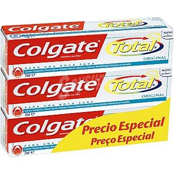 Colgate Pasta dentífrica total pack 3 tubo 75 ml precio especial Pack 3 tubo 75 ml