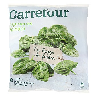 Carrefour Espinacas hojas en porciones 1 kg